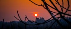 Soleil rouge (Maxime Bonzi) Tags: aurore france cité pérouges macro winter pavé medieval hiver soleil city couché ain rouge pierre médievale
