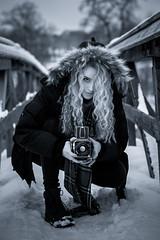 Old school (jarnasen) Tags: fuji xf56mmf12 fujinon portrait emma retro hasselblad 500c girl winter cold dof perspective sweden sverige geo geotag copyright järnåsen jarnasen mono monochrome tone gallery