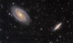 Bode's and Cigar Galaxies (Waskogm) Tags: maksutov newtonian mn mn190 maksutovnewtonian mak newt maknewt azeq6 cassegrain nostromo aristarh opservatorija amateur astronomy space cosmos svemir galaxy bodes cigar ursa major nature waskogm vasilije ristovic telescope teleskop