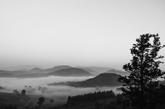 Monochromatic (prashanthkumar2) Tags: vintage view hills nature winter hillside monochrome cloudy mist fog flickraddicts todaysflickr tour india nikon prashanthkumar landscape landscapephotography earthtones landscapes landscapemania