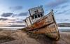 An Old Wreck (Ryan Jeske) Tags: lanscape tripod ocean canon80d canonefs1585isusm water shipwreck sky boat pointreyesshipwreck canon clouds pointreyesnationalseashore