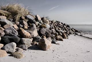 Stony and sandy beach