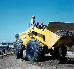 photo by shamptonian (davidweldon1) Tags: 50s automobile bluecollar california construction engine industry landtransportation machinery male men northamerica sanfrancisco unitedstates wheel loader usa
