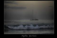 Sailboat in Gran Canaria (vonhoheneck) Tags: sailboat schölkopf schoelkopf canon ocean grancanaria maspalomas meloneras beach sea atlantik atlantic island segelboot meer morgen sunset wellen waves eos6d schweden sweden elida sailingchurch vessel