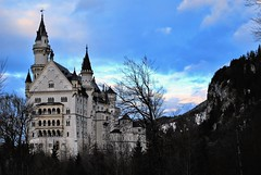 Neuschwanstein Castle. (AdrisXO) Tags: winter castle bavaria germany lanscape place history famous bluehour