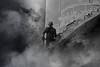 Love (ItalianCandy) Tags: smoke gasmask gas pollution chemical factory fire economy man berlin monochrome black white fear death love attachment pain regret escape