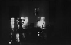 P56-2017-015 (lianefinch) Tags: blackandwhite blackwhite noirblanc noiretblanc bw nb argentique argentic analogique monochrome contraste contrast chiaroscuro clair obscur intérieur indoor soleil sun light lumière ombre shadow bureau office desk