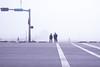 Fog on the beach / Plage dans le brouillard (Jacques Lebleu) Tags: fog seawall beach gulf
