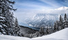 Skiing for meditation (VandenBerge Photography ....and we're back again!) Tags: lakeachen alps austria winter panorama mountains clouds sky snow snowscape trees canon eos80d slopes forest nature white weather europe tyrol karwendel achensee achenvalley lake landscape