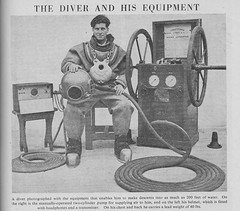 The Diver and his Equipment  -  Children's Encyclopedia by Arthur Mee 1946 (AndyBrii) Tags: childrens encyclopedia arthurmee 1946