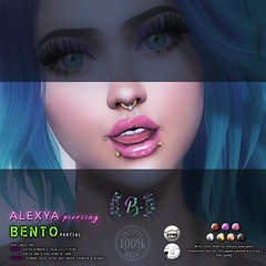 Alexya Piercing @ ULTRA (SiLverMoon Namiboo) Tags: sl second life piercing piercings bento original mesh fitted fitmesh accessories jewels jewelry punk rock gold metalic catwa lelutka catya kimberly lona sofia uma keme ciara lilly pink simone chloe cate bianca greer spencer may andrea head lip nose ring gems blx blaxium