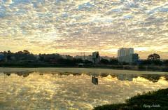 Nature's beauty (upayankita) Tags: sunrise sun nature beauty lake bangalore moto cloud pattern
