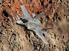 Lightning (Dafydd RJ Phillips) Tags: ot002 operational test 323 tes evaluation sqn squadron edwards afb air force base united states america california death valley rainbow canyon jedi transition star wars panamint f35 f35a lightning low level aviation ilitary combat dutch royal netherlands