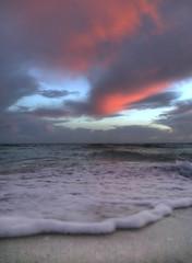 Nostalgia (Robyn Hooz) Tags: nostalgia onda spiaggia cielo mare sky red sunset sunrise slow sigh memory