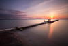 L'ennesimo pontile (Danilo Agnaioli) Tags: umbria italia natura tramonto acqua cielo sole canon6d filtrilee