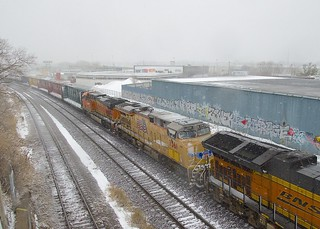 BNSF and UP power