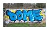 Graffiti (Dome), East London, England. (Joseph O'Malley64) Tags: dome graffiti urbanart publicart freeart streetart eastlondon eastend london england uk britain british greatbritain art artist artistry artwork throwie writer wall walls brickwork bricksmortar cement pointing trees concrete grass urban urbanlandscape aerosol cans spray paint fujix x100t accuracyprecision