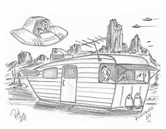 Pinnacle 24 (rod1691) Tags: myart art sketchbook bw scifi grey concept custom car retro space hotrod drawing pencil h2 hb original story fantasy funny tale automotive illistration greyscale moonpies sketch sexy