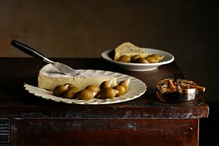 Garlic Stuffed Olives and Cheese