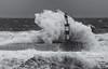 Seaham High Seas (Alan-Taylor) Tags: seaham sea waves lighthouse blackandwhite monochrome bw
