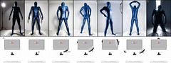 Flash Lighting (llbdevu) Tags: flash tutorial examples lighting soft hard softbox reflector shadows highlights darks dark bright light setup setting indoor nikon strobist lycra spandex catsuit zentai shiny boy men unitard costume posing tight blue white black