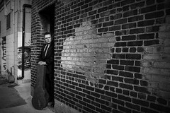 20180320.WaitingIsTheHardestPart (Paul Thibodeau) Tags: photooftheday windsor nikond500 walkerville alley jeff guitar lespaul portrait blackandwhite monochrome