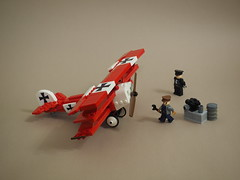 Fokker Dr.I (Vaionaut) Tags: fokker redbaron wwi ww1 luftwaffe plane airplane triplane biplane aircraft lego legocity legotown legovehicles vehicle toy toyphoto red