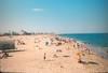 Ocean city beach (ryandoddlol) Tags: distant umbrellas sand samd ectar kodak om10 olympus 35mm anolog film oceancitymaryland maryland oceancity city ocean holiday vacation summer beach people sea water sky america american