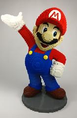 mario3 (Fragty) Tags: mario luigi nintendo lego amiibo sculpture