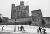 Rochester Castle in the Snow (daveseargeant) Tags: castle rochester leica x medway monochrome whiteblack white black typ 113 street