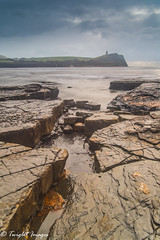 Craggy rocks at Kimmeridge low tide (Twiglet Images) Tags: sky cloud drag landscape seascape water sea rock beach tide dorset jurassic coastline coast point kimmeridge nikon d600 fx full frame lee filters benro tripod cpl folly clavell tower