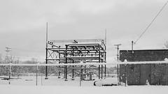 After the Storm: Albany Drive About - Elecrrical Power Substation (Adventure George) Tags: acdseepro albany albanycounty americancity city march nature newyorkstate newyorkstatecapital nikond750 northamerica outdoor photogeorge photoshoot snow snowstorm upstatenewyork urban urbanscene us usa weather winter winterscene newyork unitedstatesofamerica blackwhite bw monochrome winterstorm quinn
