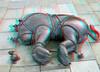 Tom Otterness 3D (wim hoppenbrouwers) Tags: tomotterness 3d anaglyph stereo redcyan brons bronze thehague scheveningen boulevard