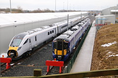 800036 385008 Newton Aycliffe 6/3/2018 (Martin Coles) Tags: trains train rail railway railways hitachi newtonaycliffe 800036 class800 iet at200 scotrail