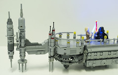 Duel On Cloud City (Ben Cossy) Tags: lego star wars moc darth vader sith jedi empire strikes back episode 5 duel cloud city bespin lights lightsaber afol tfol luke skywalker