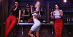 ♚ 517 ♚ (Luxury Dolls) Tags: party drinks pub bar partnership head catwa bento pose belleposes deaddollz monso hair collabor88 fashion fameshed blog blogger red dark style store sexy shot body shape maitreya