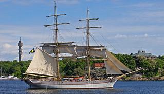 The sailing ship Tre Kronor af Stockholm in Stockholm