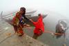 Makar Sankranti in Varanasi (pallab seth) Tags: makarsankranti varanasi people devotee tradition morning prayer ritual ganga river holydip banaras benaras india ganges religion religious belief traditional culture asia hindu hinduism bathing candid winter fog mist woman