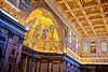apse mosaic etc. (khrawlings) Tags: basilicapapaledisanpaolofuorilemura rome italy papal pillars space cuboid empty floor ceiling church catholic architecture wood dome apostles christ heads portraits apse mosaic