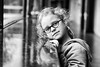 two? (kceuppens) Tags: maxine portret portrait girl meisje reflection black white blackandwhite bw zwart wit zw fuji fujixt20 xt20 50mm fuji50f2