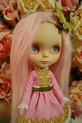 Always think... (Primrose Princess) Tags: custom blythe doll takara ooakblythe pinkalpacareroot morganorton cosette pink princess roses happiness happythoughts dollydreamland primroseprincess