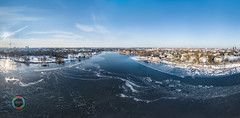 Frozen Alster Lake Aerial HDR Panorama (Martin Deja) Tags: hamburg alsterlake outeralster lake frozen aerialview topview highangleview highdynamicrangeimaging winter ice coldtemperature snow nature urban cityscape scenicsnature frost coastline panorama panoramic water landscape city downtown environment tree bluesky sun clouds drone beautiful germany northerngermany blue white bright riverside shore river nauticalvessel skyline port elbphilharmonie