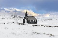 Budir Church, Snæfellsnes Peninsula, Western Iceland (MelvinNicholsonPhotography) Tags: iceland budir budirchurch snow winter mountains ice graveyard snæfellsnespeninsula