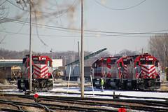Close, but no cigar (AndyWS formerly_WisconsinSkies) Tags: train railroad railway railfan wisconsinandsouthern wsor watco wamx emd gp392 sd402 locomotive
