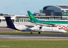 Flybe Dash-8 G-ECOI (birrlad) Tags: dublin dub international airport ireland aircraft aviation airplane airplanes airline airliner airlines airways taxi taxiway takeoff departing departure runway turboprops prop bombardier dash8 q400 gecoi flybe