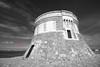 (126/18) La Torre de Fornells bn (Pablo Arias) Tags: pabloarias photoshop photomatix capturenxd españa cielo nubes arquitectura monocromático blancoynegro bn torre mar agua mediterráneo fornells menorca