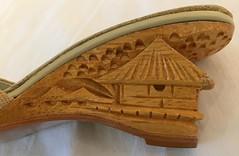 Vintage Carved Wooden Wedgies (profkaren) Tags: vintageshoes