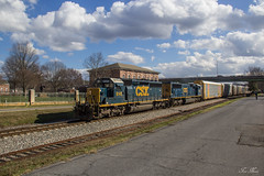 CSX Q212-19 at Cartersville (travisnewman100) Tags: csx train freight manifest autorack emd sd402 sd70mac q212 wa subdivision atlanta division railroad locomotive