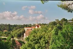 Sintra (sweetfchan) Tags: yashika analog film 35mm portugal sintra sky clouds green palace nature