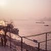 River bank scenery. (tymobile) Tags: china wuhan riverbank fishing boat yangtzeriver kodakektar100 filmphotography 120 mediumformat 6x6 503cw hasselblad